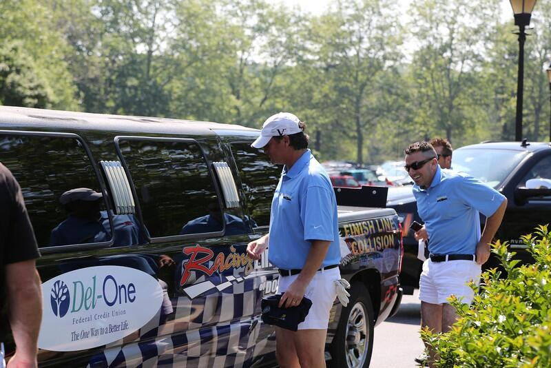 Drive 4 Autism Golf Tournment Click It or Ticket team arrives in style!