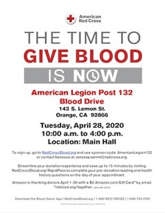 Blood Drive Next Week 4/28
