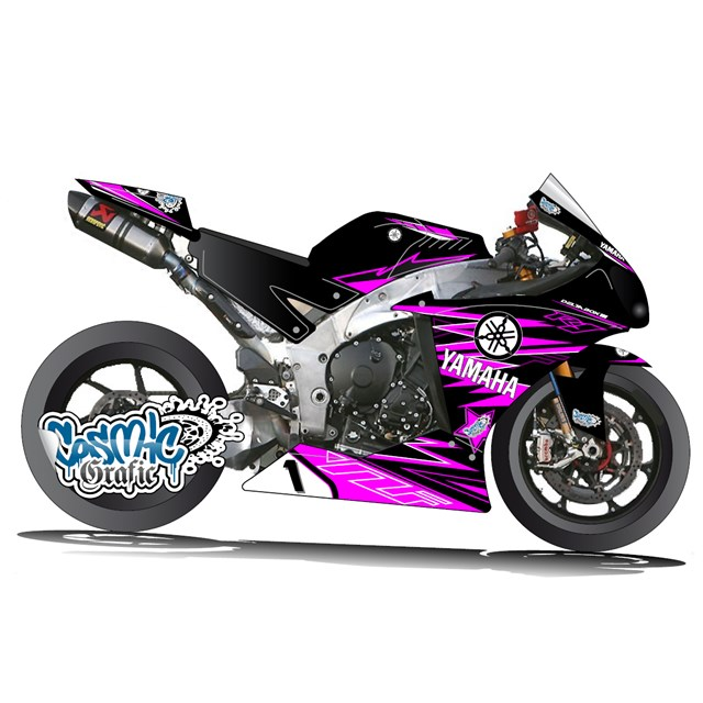 Custom made to order graphic kit for 2009 2014 yamaha r1 - Image moto sportive ...