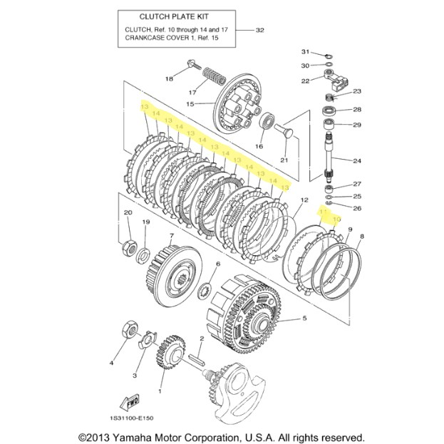 yamaha clutch kit for 2006 to 2012 raptor 700r