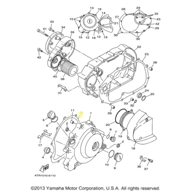 new oem yamaha clutch kit for 1998 to 2011 v