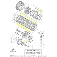 Yamaha Clutch Kit for 2002 XV17PCP