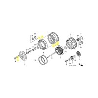 OEM Honda Clutch Kit for 2004 to 2009, 2012, 2014 TRX450R/ER