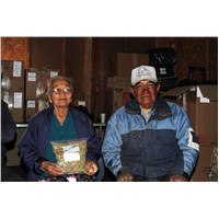 Couple Receive Gleanings Soup Mix