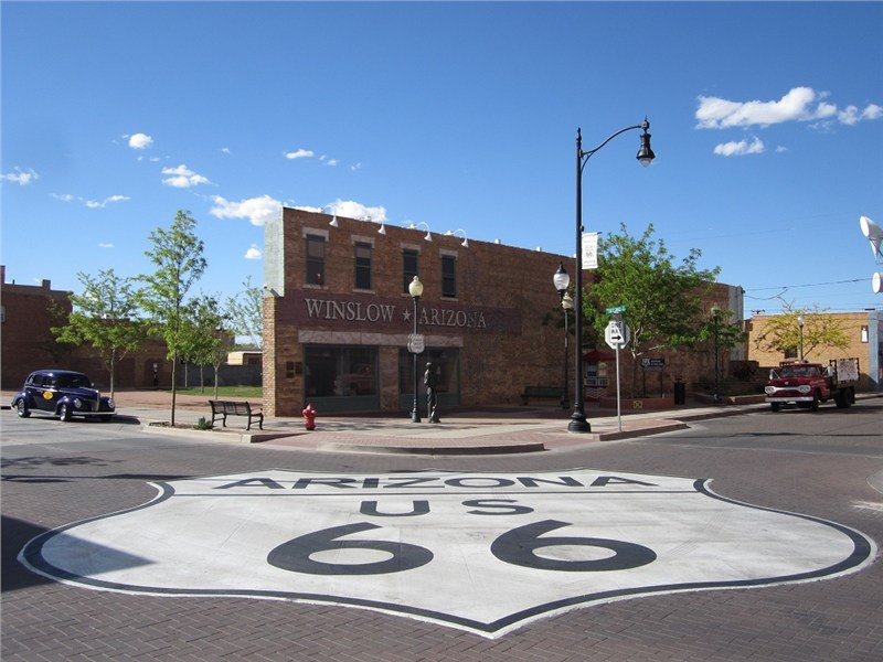 Standin' - On - A - Corner - In - Winslow, Arizona… for all you Eagles fans.