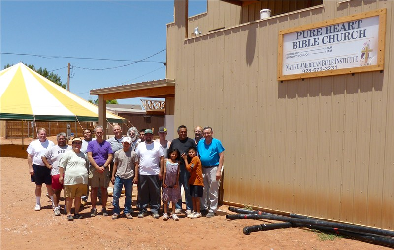 The Kaibeto team as we prepared to move to Holbrook