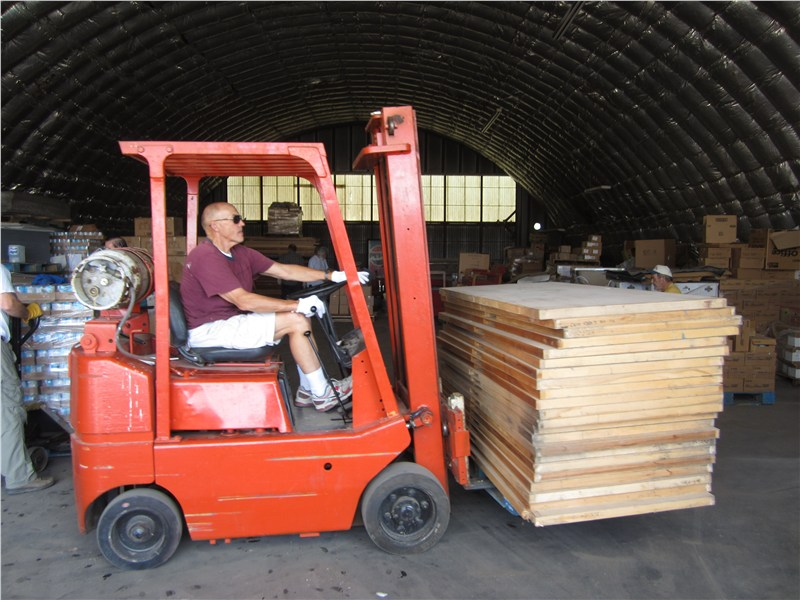 Bo made the forklift do everything but dance… and moved a lot of material and supplies
