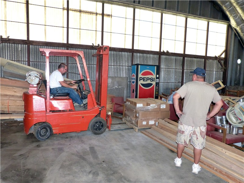 Rich took over the forklift when Bo left for Tennessee… but Chad kept on eye on him