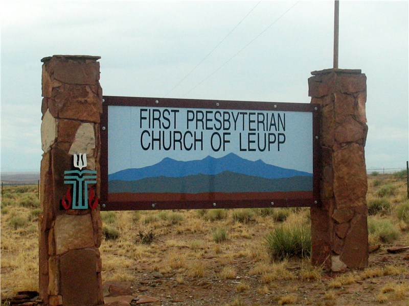 First Presbyterian Church of Leupp is our newest 'hub' location serving approximately 12 other churches in the area