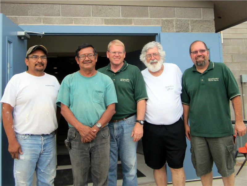 Ron, Pastor Kelly, Randy, Stan and Rich… as we prepared to leave FPCL and return to California