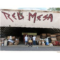 The cleanup and reorganization of the Red Mesa warehouse in Sanders was our second project for the trip