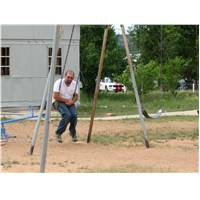 Rich was on time out… actually he was safety testing playground equipment