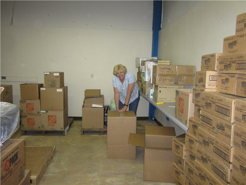 Denise gathered, inventoried, and packaged medical supplies for deliveries