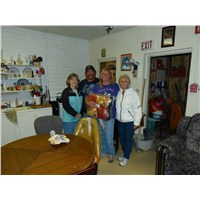 Pam, Veldon & Debra Clendon and Carol at The Hope Center in Whiteriver AZ