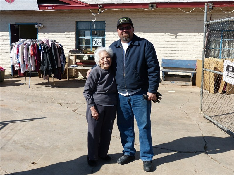 Rich and Grandma Jimenez at The Hope Center
