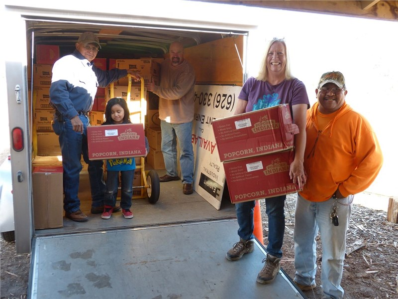 Delivery at Hope Center - John, Jesse, Rob, Deborah, Veldon