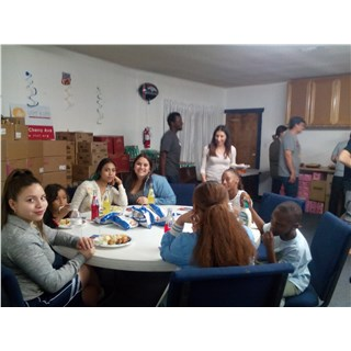 Young Life Impacting Lives Kids enjoying food - Feb 9, 2016
