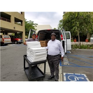 6/5/2017 Stacy delivering to Vets