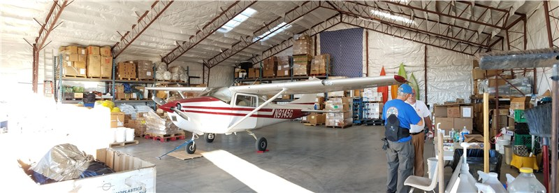 10/26/18 Hanger/Warehouse after event is done - Look we got the plane in there!