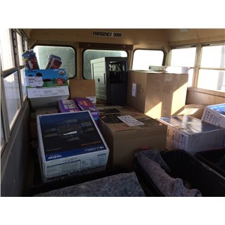 5/8/2019 - Holbrook Indian School - School Bus loaded with products and computers