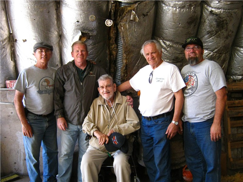 Dave, Randy, Pastor Paul Beasley Sr., Doug and Rich after unloading at the Red Mesa Warehouse in Sanders AZ