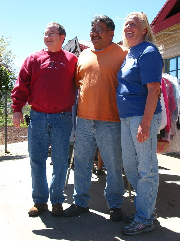 Pastor Fitz with Veldon & Debra Clendon at The Hope Center in Whiteriver AZ