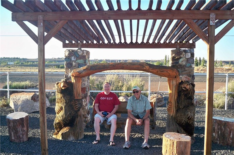 Pastor Fitz and Bo… relaxing following the completion of their phase of the project