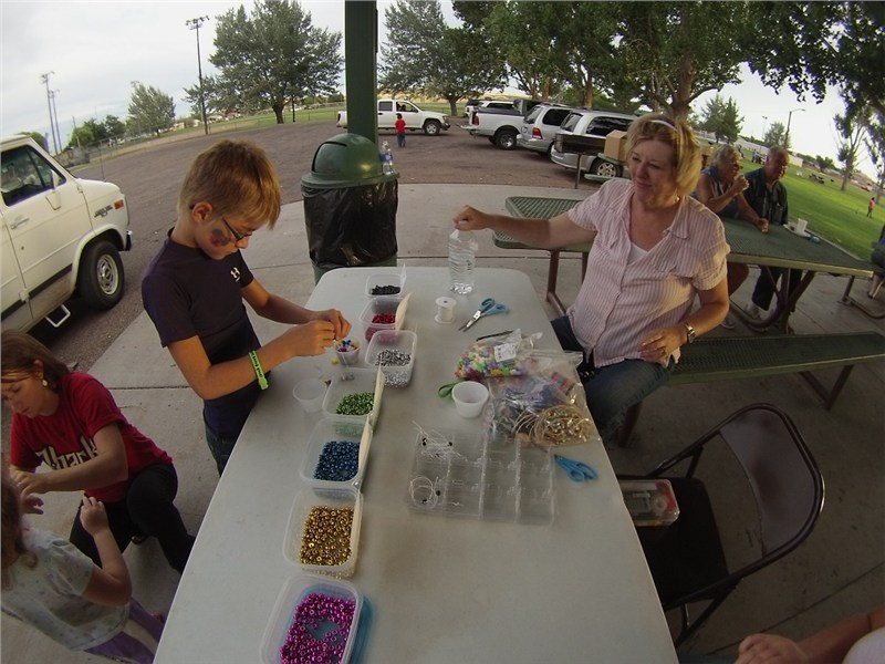 As was Denise and the bead table…