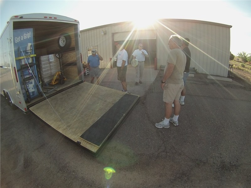 Wednesday morning Dave and John of Serve-One arrived with 8,000 lbs of additional supplies