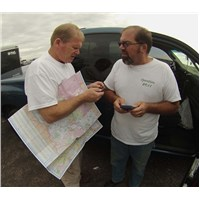 Tuesday began with Randy and Rich checking delivery locations and phone numbers… Rich led the deliveries on this trip
