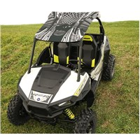 Polaris RZR 1000 XP UV Printed Polycarbonate 2 piece Roof Black Melt