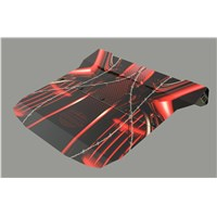 Polaris RZR 1000 XP UV Printed Polycarbonate 2 piece Roof Red Wire