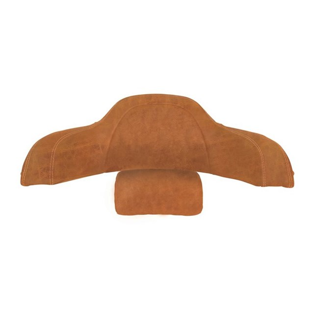 Genuine Leather Trunk Passenger Backrest Pad, Desert Tan