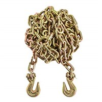 "Import 3/8"" X 20' G70 Chain with grab hooks, WLL 6,600 lbs"