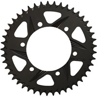 VORTEX Aluminum F5 Rear Sprocket - 520 Pitch - 47-Tooth - Black Hard-coat