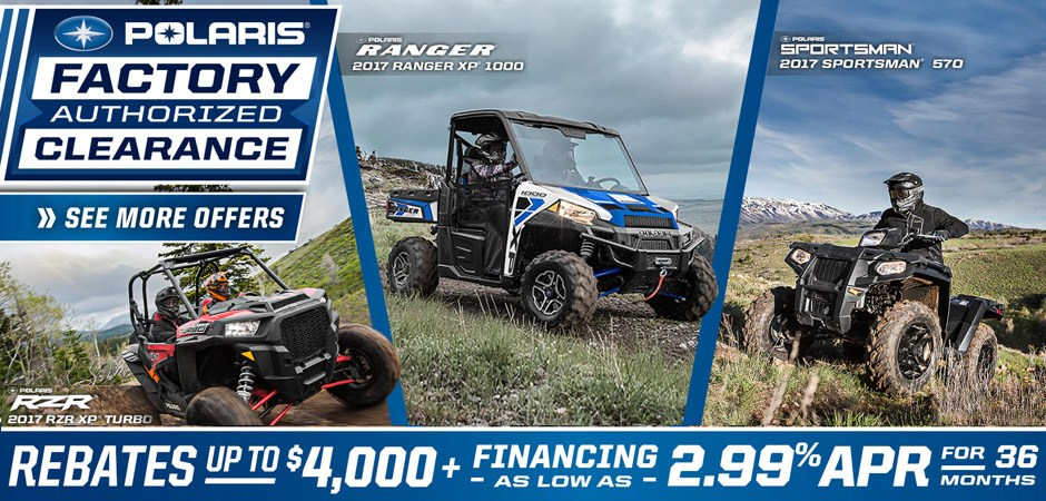 2017 Polaris Factory Clearance Event