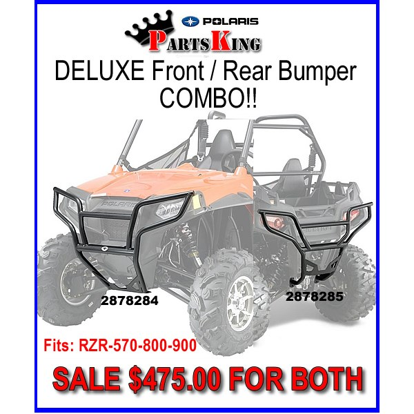 RZR 570 Trail pack bumper combo Front and rear deluxe bumpers.