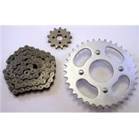 "CHAIN AND SPROCKET KIT 03-09 DRZ125L DRZ 125 BIG WHEEL SPROCKETS 17"" REAR WHEEL"