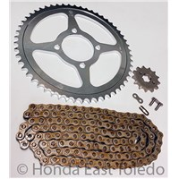 CHAIN AND SPROCKET KIT 02-11 TTR125L TTR 125 STEEL FRONT REAR SPROCKETS