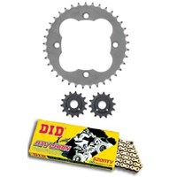 DID X Ring 520 Chain & Sunstar 13T 14T Sprockets Honda TRX450R TRX450ER 04-12