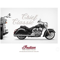 INDIAN MOTORCYCLE CLASSIC CHIEF POSTER