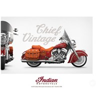 INDIAN MOTORCYCLE VINTAGE CHIEF POSTER