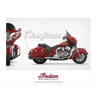 INDIAN MOTORCYCLE CHIEFTAIN POSTER