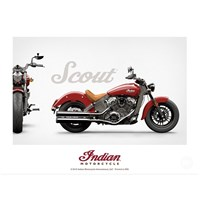INDIAN MOTORCYCLE SCOUT POSTER