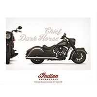 INDIAN MOTORCYCLE POSTER CHIEF DARK HORSE