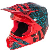 F2 Carbon Fracture Helmet Black/Red/Light Blue