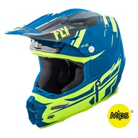 F2 Carbon Forge Helmet Black/Hi-Vis/Blue
