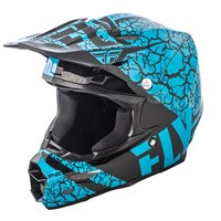 F2 Carbon Fracture Helmet Light Blue/Black