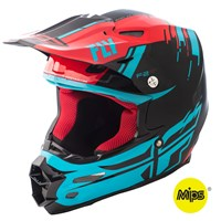 F2 Carbon Forge Helmet Red/Blue/Black