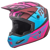 Elite Guild Helmet Matte Neon Pink/Blue/Black